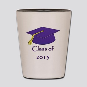 Class of 2013 Purple and Gold Cap Shot Glass
