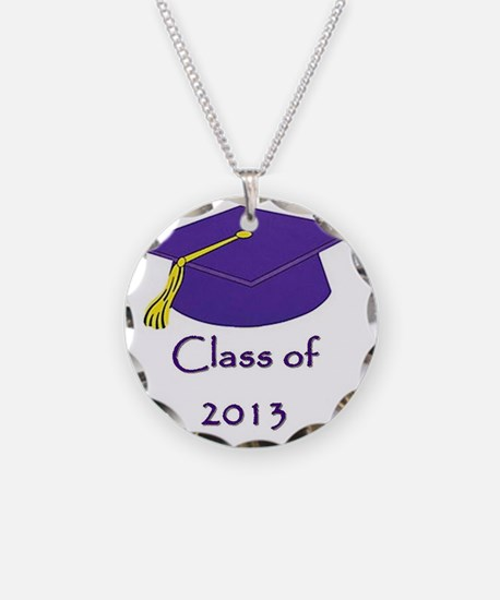 Class of 2013 Purple and Gol Necklace