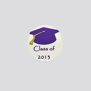 Class of 2013 Purple and Gold Cap Mini Button
