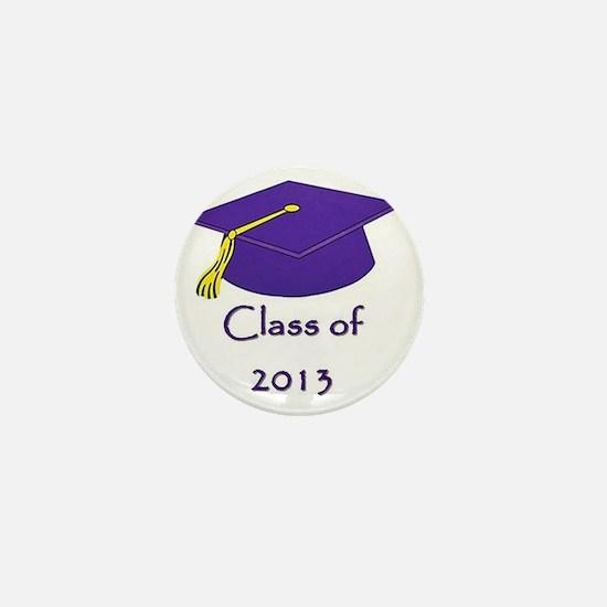 Class of 2013 Purple and Gold Cap Mini Button