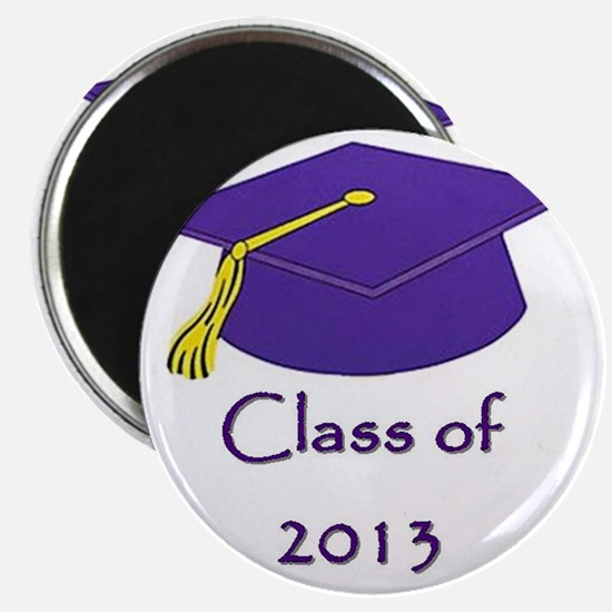 Class of 2013 Purple and Gold Cap Magnet