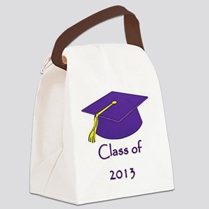Class of 2013 Purple and Gold Cap Canvas Lunch Bag