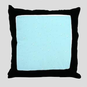 teal raindrops Throw Pillow