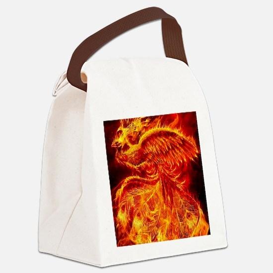 Phoenix Rising Canvas Lunch Bag