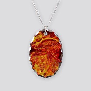Phoenix Rising Necklace Oval Charm