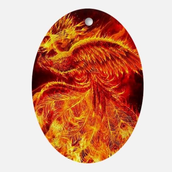 Phoenix Rising Oval Ornament