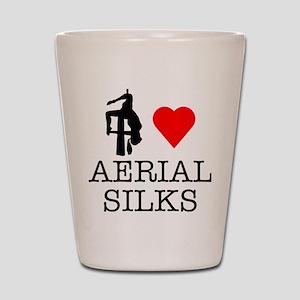 I Love Aerial Silks Shot Glass