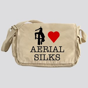 I Love Aerial Silks Messenger Bag