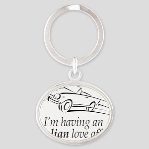 An Italian Love Affair Oval Keychain