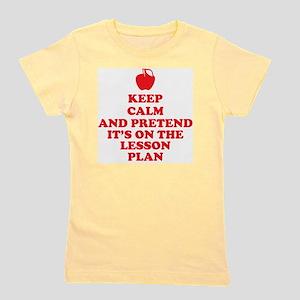 Keep Calm Teachers Girl's Tee