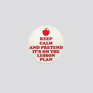 Keep Calm Teachers Mini Button