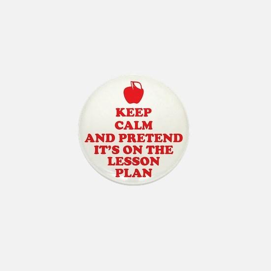 Keep Calm Teachers Mini Button