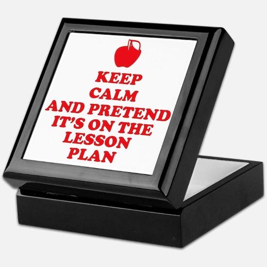 Keep Calm Teachers Keepsake Box