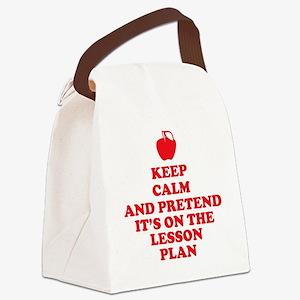 Keep Calm Teachers Canvas Lunch Bag