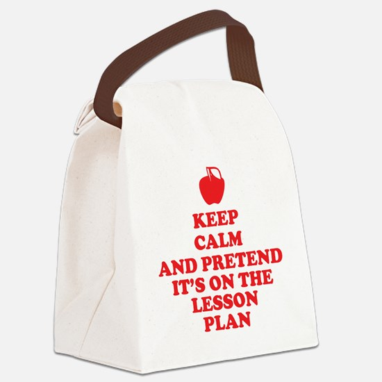 Keep Calm Teachers Canvas Lunch Bag
