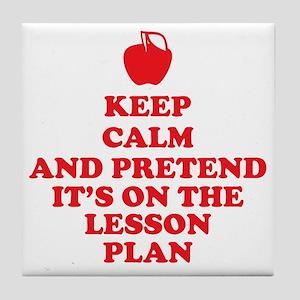 Keep Calm Teachers Tile Coaster