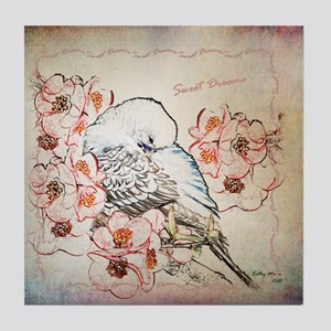 Parakeet Sweet Dreams Durvet Tile Coaster