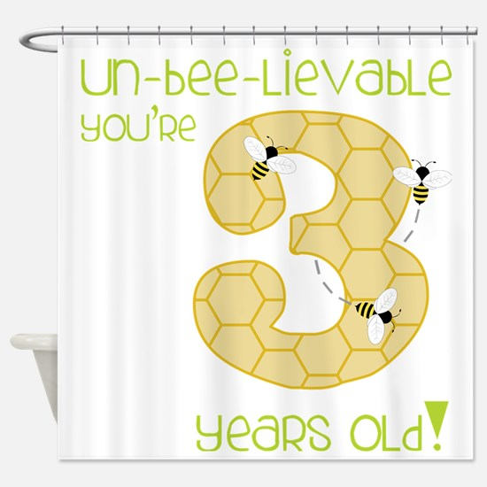 3 Year Old Honey Bee Shower Curtain