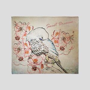 Parakeet 004 - Sweet Dreams Pillow C Throw Blanket