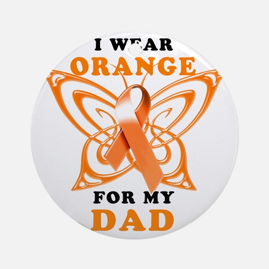 I Wear Orange for my Dad Round Ornament