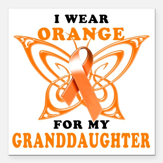 "I Wear Orange for my Gra Square Car Magnet 3"" x 3"""