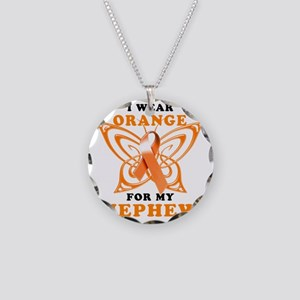 I Wear Orange for my Nephew Necklace Circle Charm