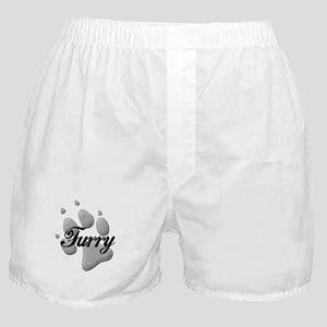 Furry PawPrint Boxer Shorts