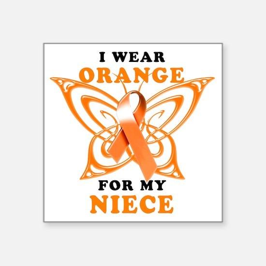 """I Wear Orange for my Niece Square Sticker 3"""" x 3"""""""