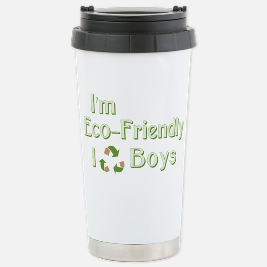 I Recycle Boys Stainless Steel Travel Mug