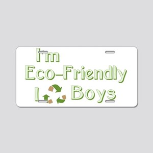 I Recycle Boys Aluminum License Plate