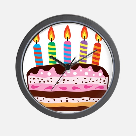 Birthday Cake Wall Clock