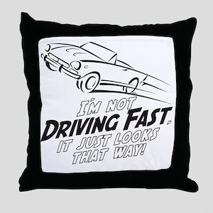 Fast Driving Italian Throw Pillow