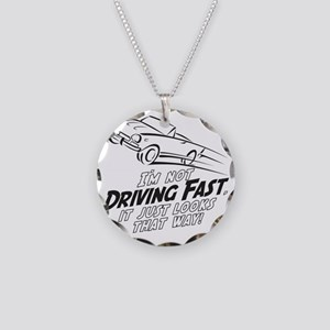 Fast Driving Italian Necklace Circle Charm
