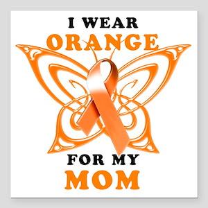 "I Wear Orange for my Mom Square Car Magnet 3"" x 3"""