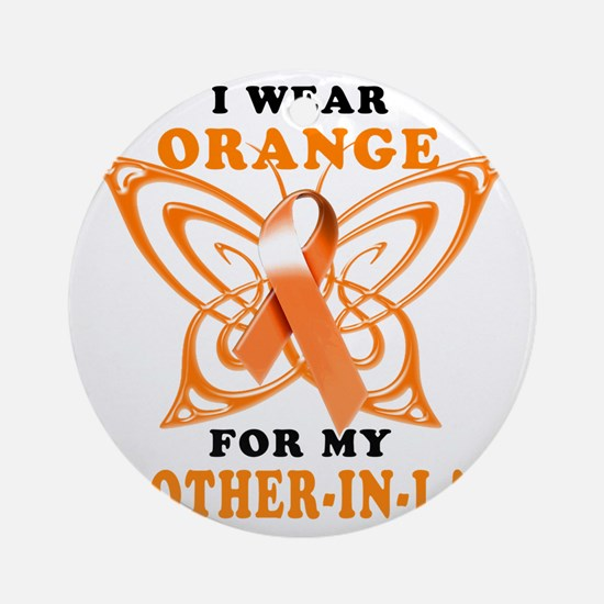 I Wear Orange for my Brother in Law Round Ornament