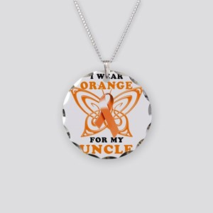 I Wear Orange for my Uncle Necklace Circle Charm