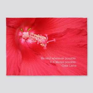 Dalai Lama Quote: Be kind. 5'x7'Area Rug