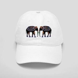 Painted Elephants Cap