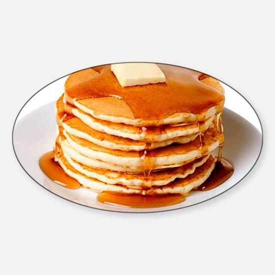 Pancakes Sticker (Oval)