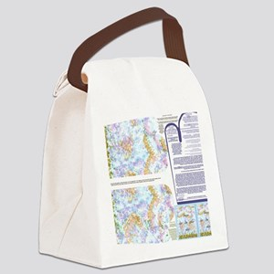 Napkins with Pointillism sky and  Canvas Lunch Bag
