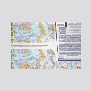 Napkins with Pointillism sky and  Rectangle Magnet