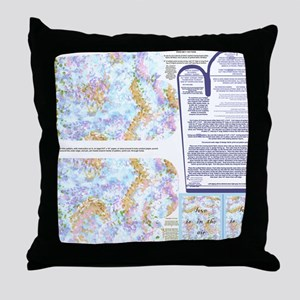 Napkins with Pointillism sky and gras Throw Pillow