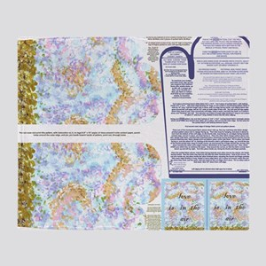 Napkins with Pointillism sky and gra Throw Blanket
