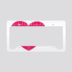 Piece of My Heart License Plate Holder