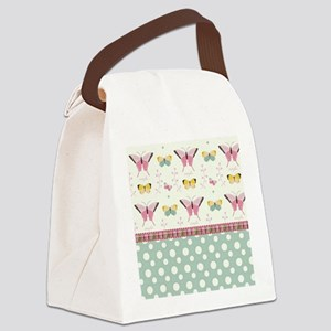 Persian Sweet Butterflies Canvas Lunch Bag