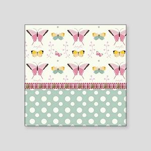 "Persian Sweet Butterflies Square Sticker 3"" x 3"""