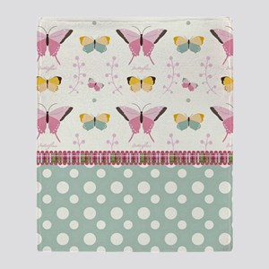 Persian Sweet Butterflies Throw Blanket