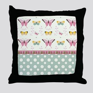Persian Sweet Butterflies Throw Pillow