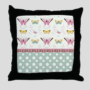 Persian Sweet Butterflies Throw Pillow