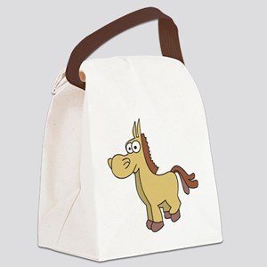 Cartoon Horse Canvas Lunch Bag